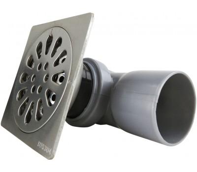 Трап сантехнический MAGdrain PC 05 Q50-B (100*100,магнитный клапан,Нерж.,Матовый)