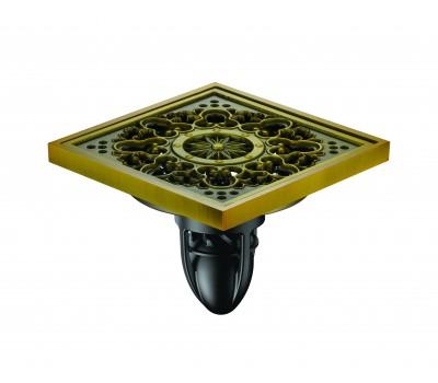 Трап сантехнический MAGdrain FC 08 Q50-H (100*100, магнитный клапан, Латунь, Полированная латунь)