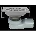 Трап сантехнический MAGdrain PC 04 Q50-B (100*100,магнитный клапан,Нерж.,Матовый, выход под стир.м.)